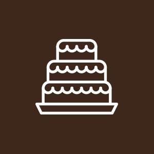 Icona con torta a più piani